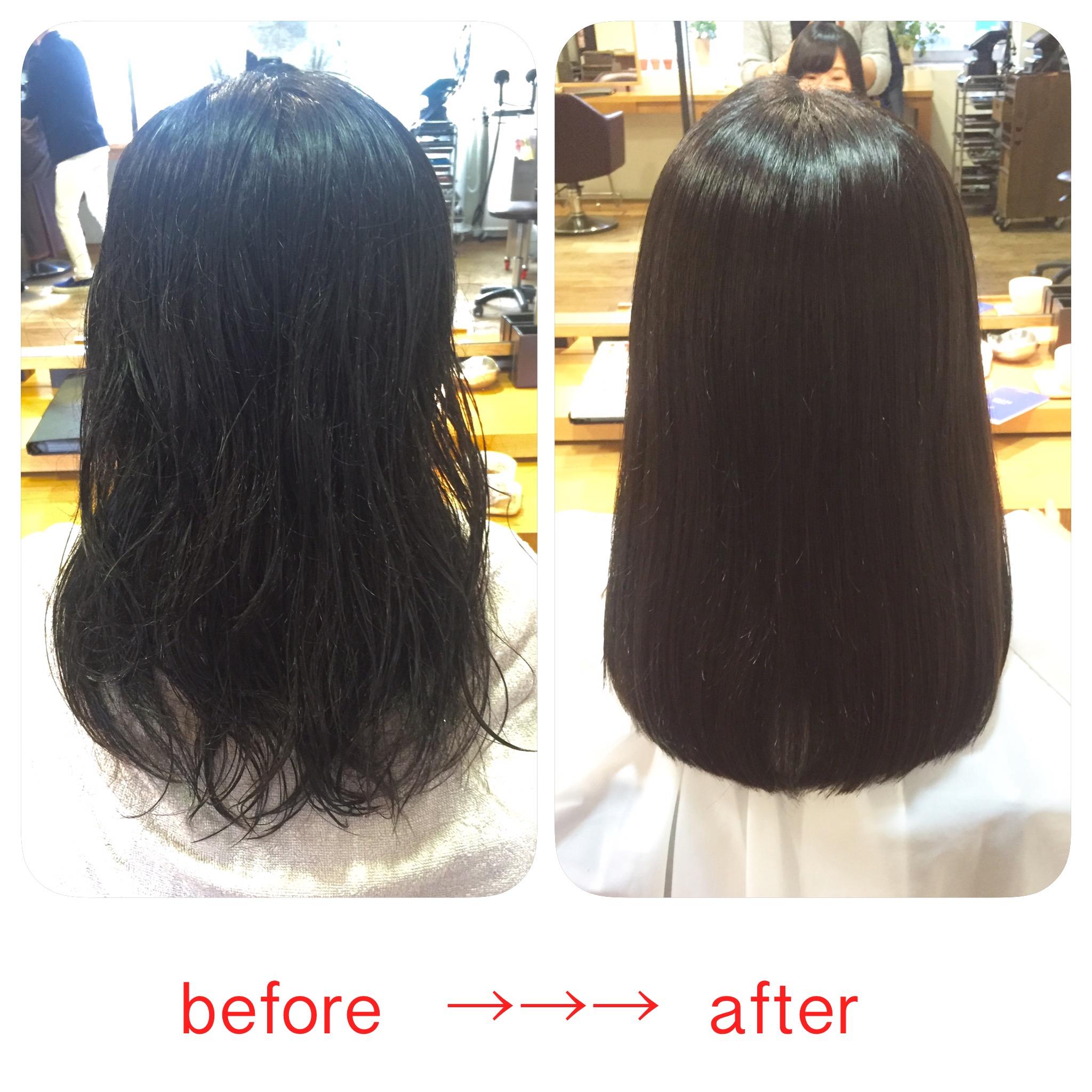 縮毛矯正の変化