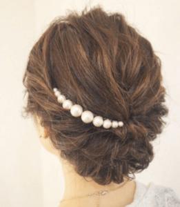 真珠のバレッタ