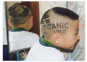 奇抜な子供の髪型