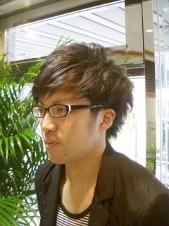 前髪メガネ